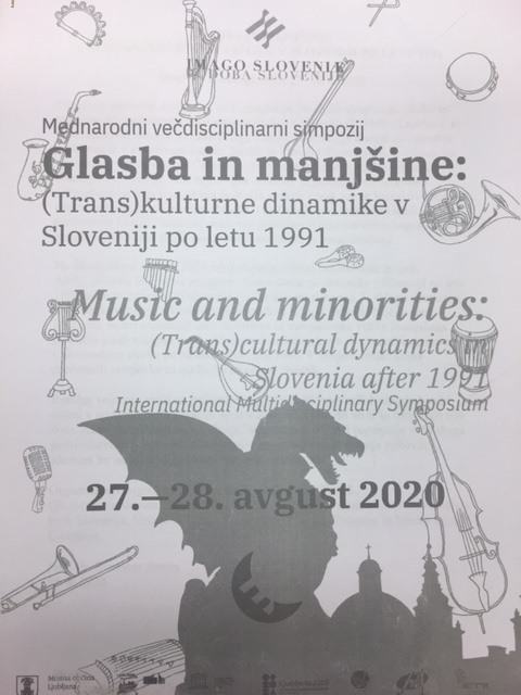 Simpozij Glasba in manjšine: program. Ljubljana, 27. 8. 2020. Foto: S. Pettan.