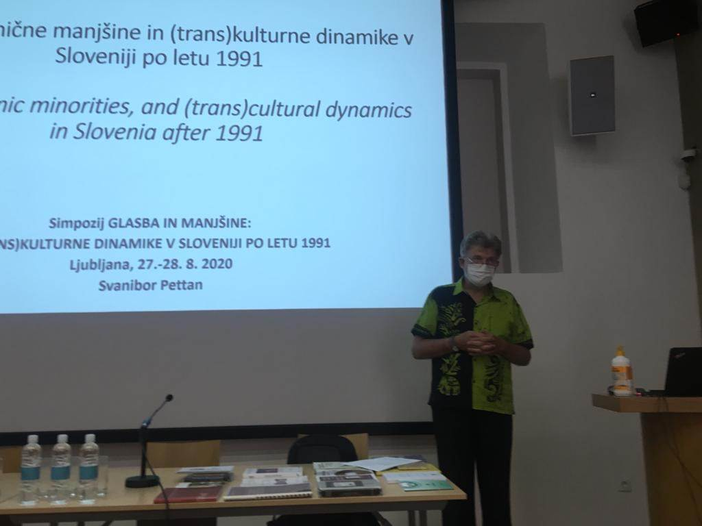Simpozij Glasba in manjšine: Svanibor Pettan. Ljubljana, 27. 8. 2020. Foto: L. M. Kalinga Dona.