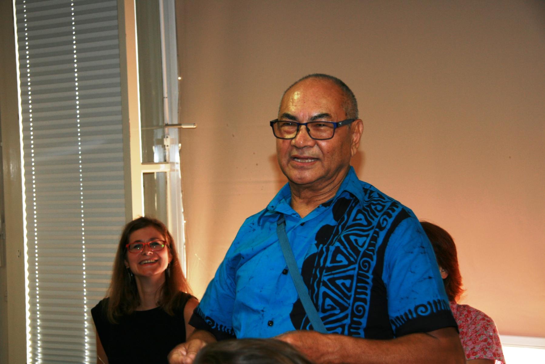 Aswin Shrestha, častni konzul Kraljevine Nepal v Sloveniji. Udeleženec razprave. Foto: Urša Šivic.